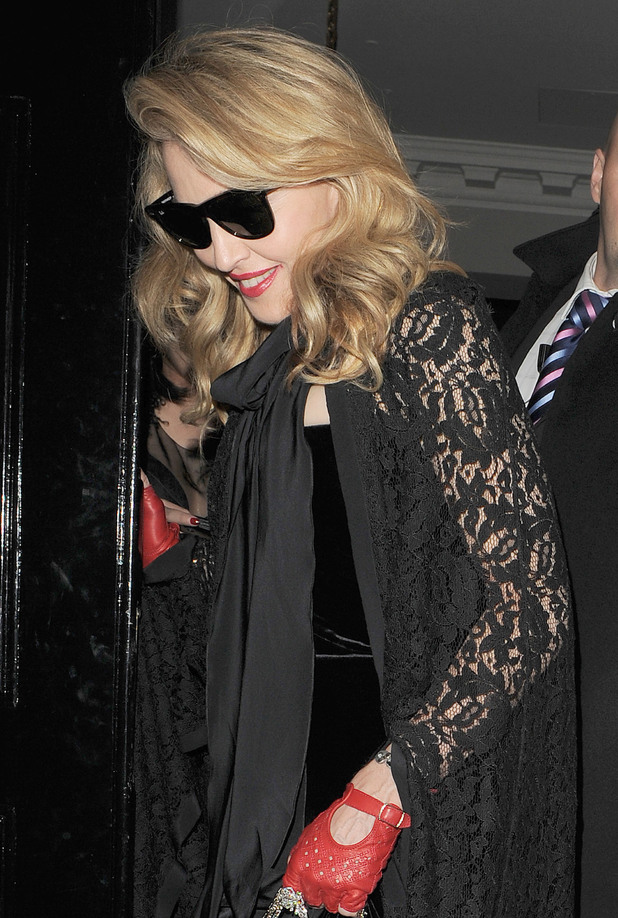 Madonna leaving the Arts Club in Mayfair London,