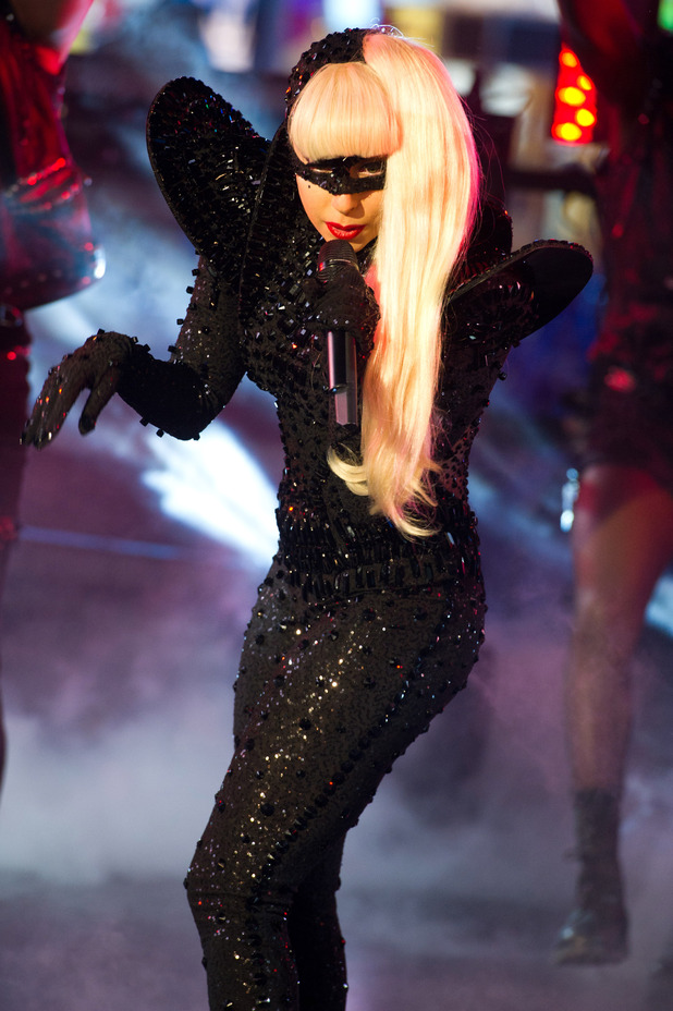 International Female Solo Artist: Lady Gaga performs in Times Square during the New Year's Eve celebration