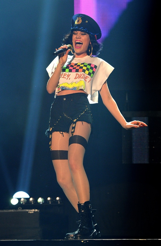 British Female Solo Artist Nominees: Jessie J performing during T4's Stars of 2011 event, at Earls Court, London