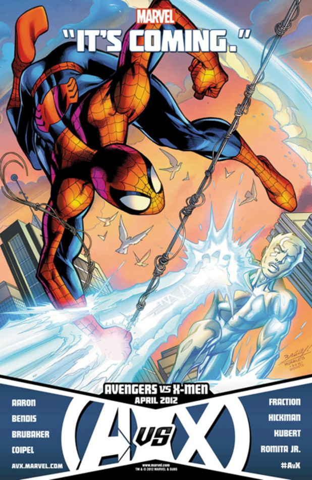Avengers vs X-Men Spider-Man Iceman Thor Storm