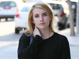 Emma Roberts heads to Beverly Hills Nail Design for a nail treatment