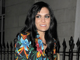 Jessie J leaves C Restaurant in Mayfair wearing a floral patterned outfit London