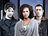 Being Human Series 4: Hal (Damien Molony), Annie (Lenora Crichlow), Tom (Michael Socha)