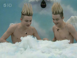 Celebrity Big Brother 9 - Day 5 Jedward are in the house giving secret missions via their cherub statues