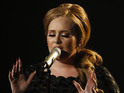 Adele becomes the first British act to spend 16 weeks at number one in the US.