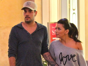 Eva Longoria and Eduardo Cruz shop for cooking books at Barnes & Noble at The Grove Los Angeles
