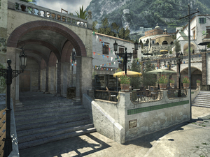 The Piazza map from Modern Warfare 3's first DLC update