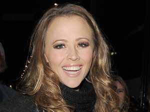 Kimberley Walsh leaving the Theatre Royal having performed in 'Shrek:The Musical'. London