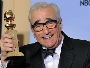 Martin Scorsese with the 'Best Director Of A Motion Picture' award for Hugo
