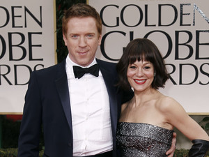 Homeland's Damian Lewis poses with his wife, Harry Potter star Helen McCrory