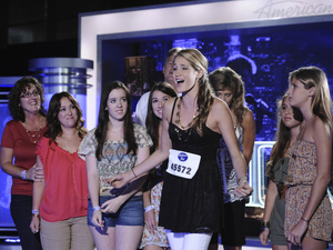 American Idol Season 11 Premiere: Contestant Shannon Magrane, with her family