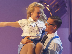 Jorgie Porter and Matt Evers