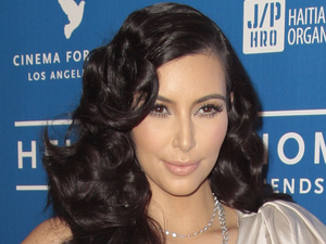 Kim Kardashian arrives at the Cinema for Peace benefit
