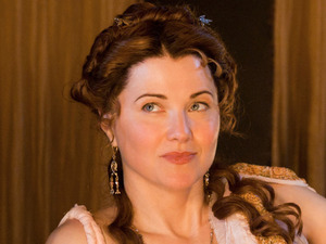 Lucy Lawless in &#39;Spartacus: Gods Of The Arena&#39;