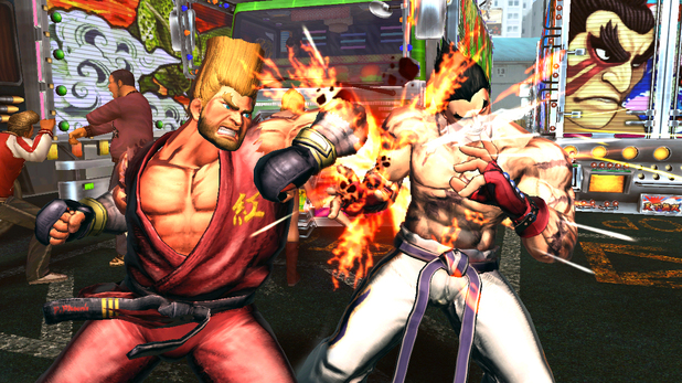 Street Fighter X Tekken screenshot Paul v Ryu