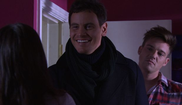 Ally (Dan O'Connor) arrives in the village