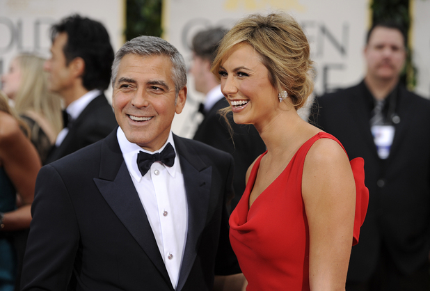 George Clooney with girlfriend Stacy Keibler