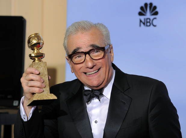 Martin Scorsese with the &#39;Best Director Of A Motion Picture&#39; award for Hugo