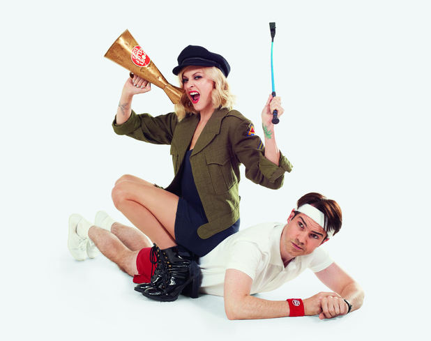 Fearne Cotton and Jimmy Carr for Sport Relief