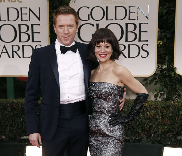 Damian Lewis poses with his wife Helen McCrory