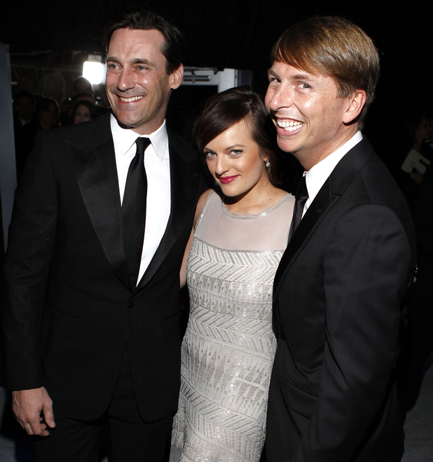 Jon Hamm, Elisabeth Moss and Jack McBrayer