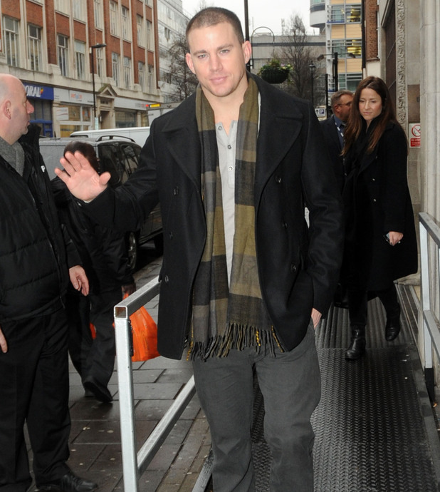 Channing Tatum outside the the BBC Radio 1 studios London