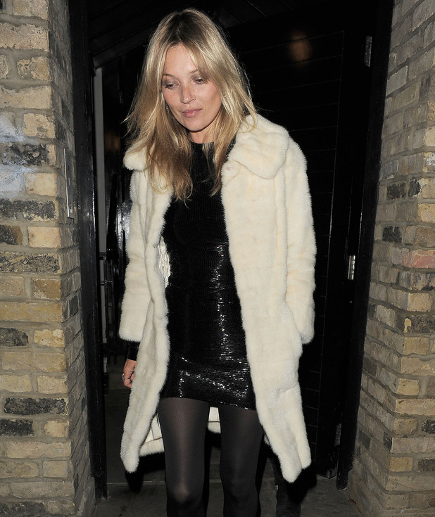 Kate Moss celebrates her 38th birthday at China Tang restaurant. London