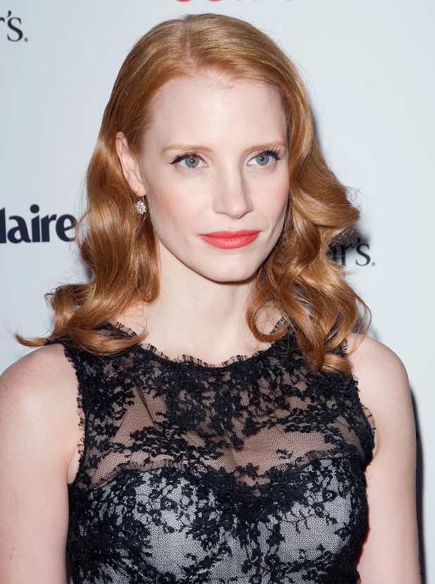 Jessica Chastain, at the New York premiere of 'Coriolanus' shown at the Paris Theater - Red Carpet New York City