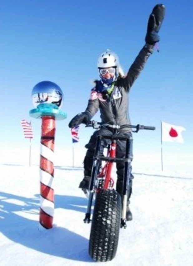 Helen Skelton reaches the south pole for Sport Relief