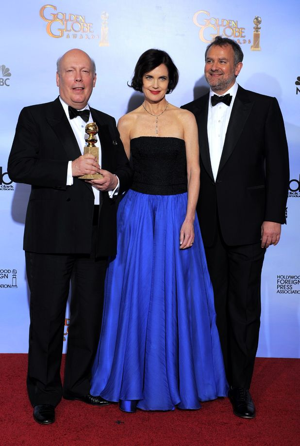 Julian Fellowes, Elizabeth McGovern and Hugh Bonneville
