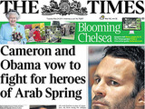 The Times Ryan Giggs U.K. Newspaper covers The day after MP John Hemming used his parliamentary privilege - which allows members to speak freely in the Commons - to name Manchester United player Ryan Giggs as the footballer at the centre of the Twitter injunction row, several U.K.