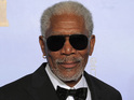 Sidney Poitier and Helen Mirren present Morgan Freeman with the renowned prize.