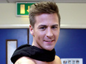 Click in to see pro skater Matt Evers shirtless backstage on Dancing On Ice.