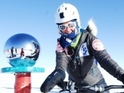 The Blue Peter presenter treks 500 miles across the Antarctic in 18 days.