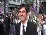 Jeff Hordley being interviewed on the red carpet at the 2007 British Soap Awards in London.