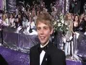 Thomas Law being interviewed on the red carpet at the 2007 British Soap Awards in London.