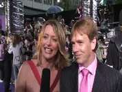 Laurie Brett & Adam Woodyatt being interviewed on the red carpet at the 2007 British Soap Awards in London.