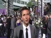 Guy Burnet being interviewed on the red carpet at the 2007 British Soap Awards in London.