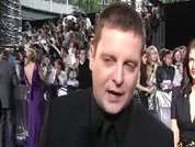 Brian Kirkwood being interviewed on the red carpet at the 2007 British Soap Awards in London.