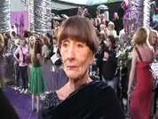 June Brown being interviewed on the red carpet at the 2007 British Soap Awards in London.