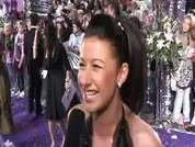 Hayley Tamaddon being interviewed on the red carpet at the 2007 British Soap Awards in London.
