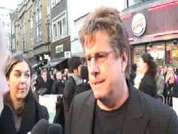 DS speaks to Director Andy Tennant at Fool's Gold film premiere in Leicester  Square.