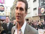 DS speaks to Matthew McConaughey at Fool's Gold film premiere in Leicester  Square.