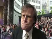 Coronation Street's David Neilson being interviewed on the red carpet at this year's soap awards held in London.