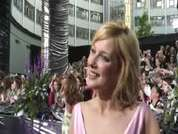 EastEnders' Gemma Bissix being interviewed on the red carpet at this year's soap awards held in London.