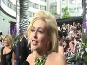 Hollyoaks' Gemma Merna being interviewed on the red carpet at this year's soap awards held in London.