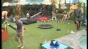 The housemates participate in playground games for their latest task.