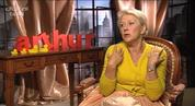 Helen Mirren chats to Digital Spy about taking the John Gielgud role opposite Russell Brand's Dudley Moore in the remake of 'Arthur'.
