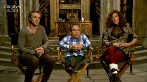 Harry Potter's Felton, Davis and Tena visit Dumbledore's study