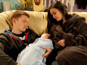 Chesney arrives home and takes charge of looking after Joseph, but when Katy returns, he has fallen asleep whilst food is cooking, showing how much of a struggle parenting is proving for them
